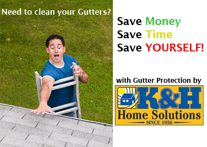 K&H Home Solutions specializes in gutters